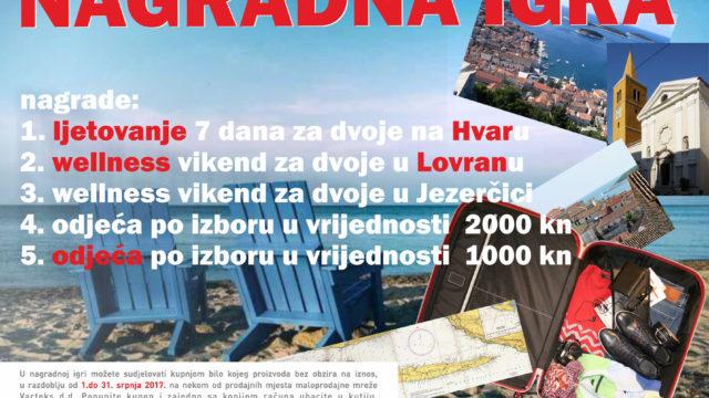 "Nagradna igra ""U Varteksu se odjeni i veselo na more kreni"""