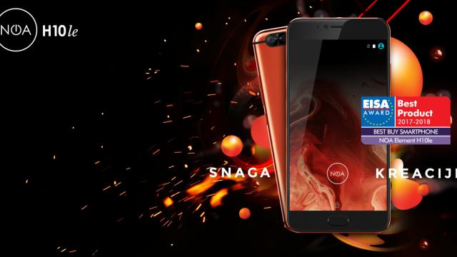 Pametni telefon Noa H10le dobitnik nagrade EISA – Best Buy Smartphone
