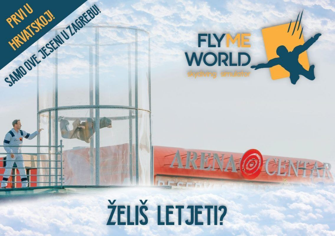 Flyme World zračni tunel u Arena Centru!
