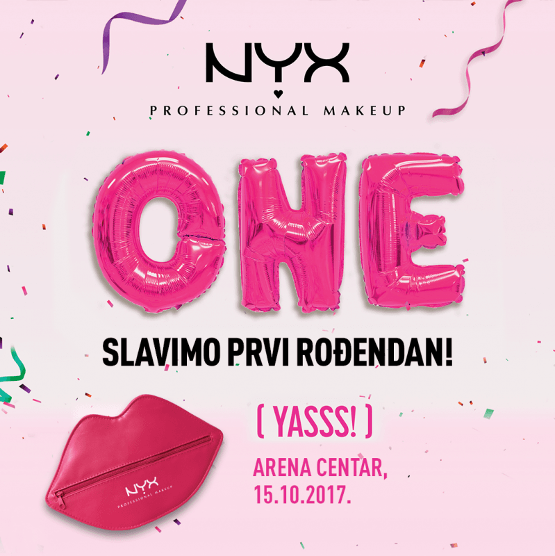 NYX Professional Makeup slavi 1. rođendan!