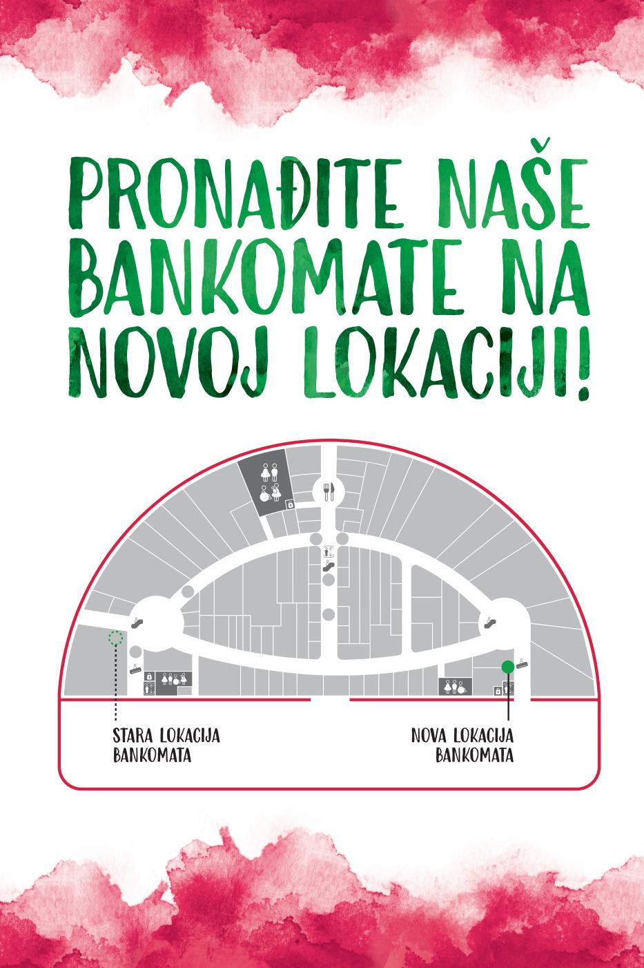Bankomati Na Novoj Lokaciji Arena Centar