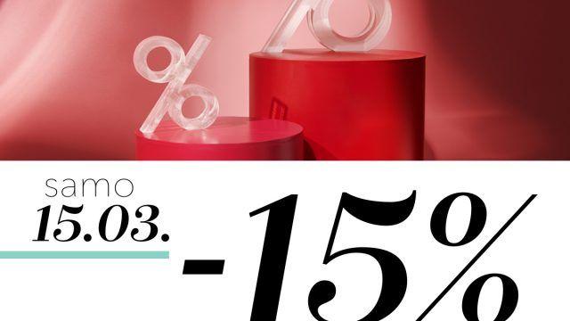 -15% na skoro sav asortiman 15.03.