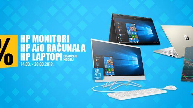 Zgrabi 10% popusta na HP odabrana prijenosna i stolna AiO računala te monitore!!!